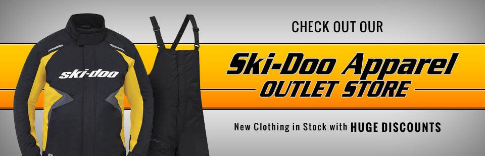 Ski-Doo Apparel Outlet Store: We have new clothing in stock with huge discounts!