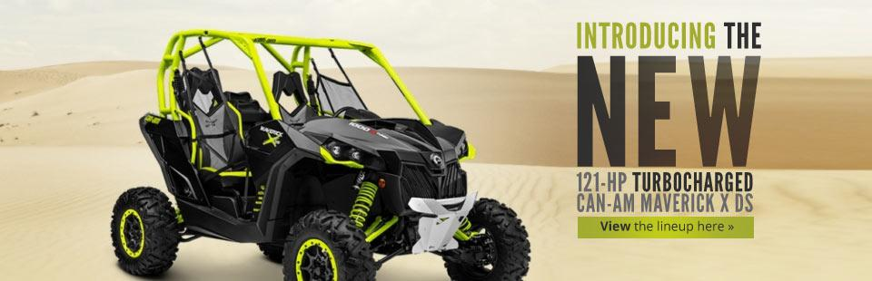 New 121-HP Turbocharged Can-Am Maverick X ds: Click here to view the full side x side lineup.