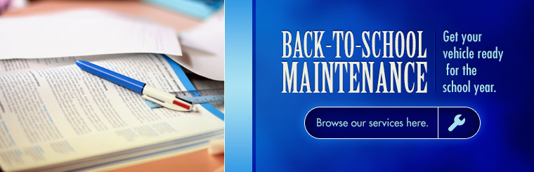 Back to School Maintenance - click to see our services.