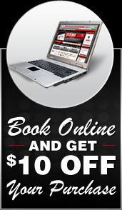 Book online, Get $10.00 Off your purchase.