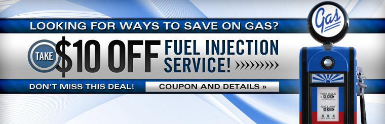 Don't Miss This Deal! Take $10 Off Fuel Injection Service
