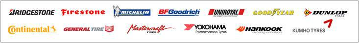 We carry products from Bridgestone, Firestone, Michelin®, BFGoodrich®, Uniroyal®, Goodyear, Dunlop, Continental, General, Mastercraft, Yokohama, Hankook, and Kumho.
