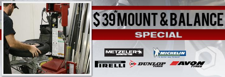 $39 Tire Mount & Balance Special