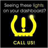 Seeing these lights on your dashboard? Call us!