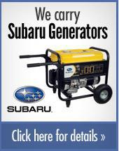 We carry Subaru Generators