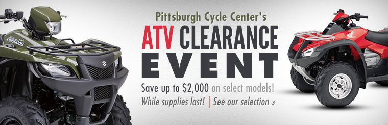 Pittsburgh Cycle Center's ATV Clearance Event: Save up to $2,000 on select models while supplies last!