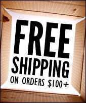 Free Shipping on orders $100+.