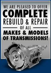 We are pleased to offer complete rebuild & repair of all makes & models of transmissions!