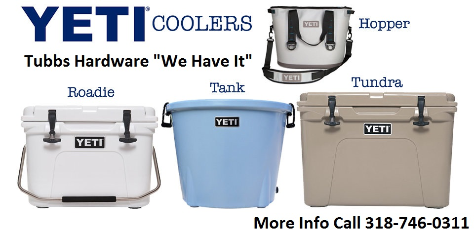 New Yeti Coolers Models For Sale Tubbs Hardware & Rental