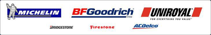 We carry products from Michelin®, BFGoodrich®, Uniroyal®, Riken, Bridgestone, Firestone, and ACDelco.
