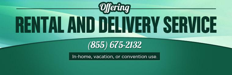 BluechipCare offers rental and delivery service in for in-home, vacation, or convention use.