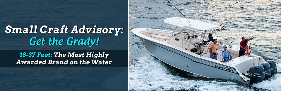 The Grady-White 18-37 foot models are the most highly awarded brand on the water!