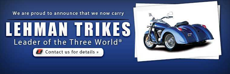 We are proud to announce that we now carry Lehman Trikes! Click here to contact us for more information.