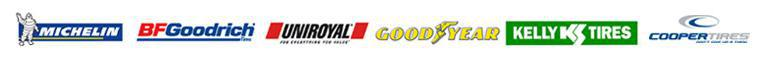 we proudly offer products from Michelin, BFGoodrich, Uniroyal, Goodyear, Kelly, and Cooper.