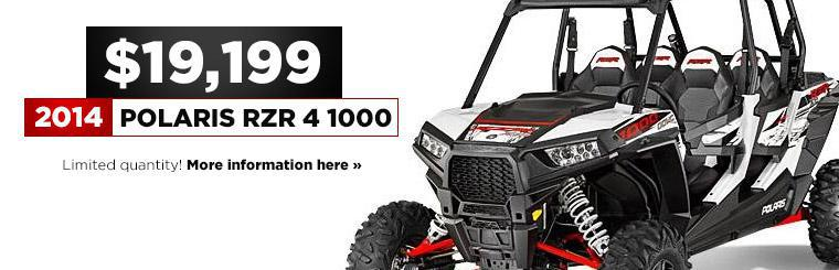 Get the 2014 Polaris RZR 4 1000 for just $19,199! Click here for details.