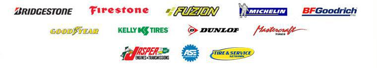 We carry products by Bridgestone, Firestone, Fuzion, Michelin®, BFGoodrich®, Goodyear, Kelly, Dunlop, and Mastercraft. Jasper Engine. We are ASE certified. Goodyear Tire & Service Network