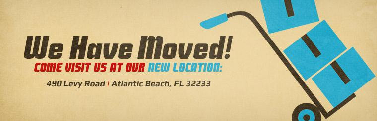 Come visit us at our new location at 490 Levy Road in Atlantic Beach, FL 32233!