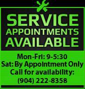 Call us at (904) 222-8358 to set up a service appointment!