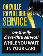 Oakville Rapid Lube Service: On-the-fly drive-thru service while you wait in your car!