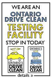 We are an Ontario Drive Clean testing facility. Stop in today.