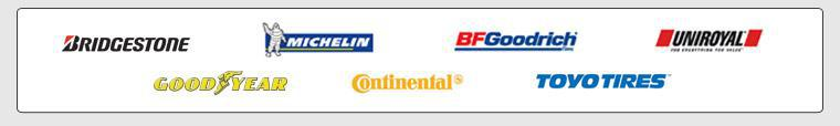 We proudly carry products by Bridgestone, Michelin®, BFGoodrich®, Uniroyal®, Goodyear, Continental, and Toyo.