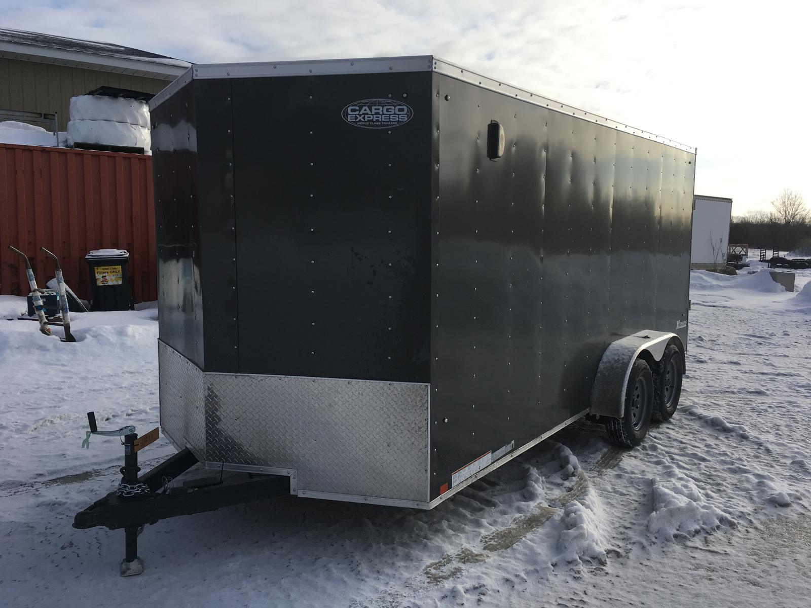 Winter Ramp 2020.2020 Cargo Express Sale 7x16 Cargo Trailer With Ramp Door Xlw7x16te2