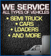 We service all types of vehicles.