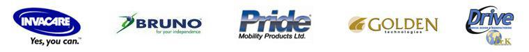 We carry products from Invacare, Bruno, Pride, Golden Technologies, 