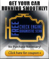 Get your Car Running smoothly! Free Check Engine Diagnostic Scan. No Purchase Necessary! Click here for coupon.