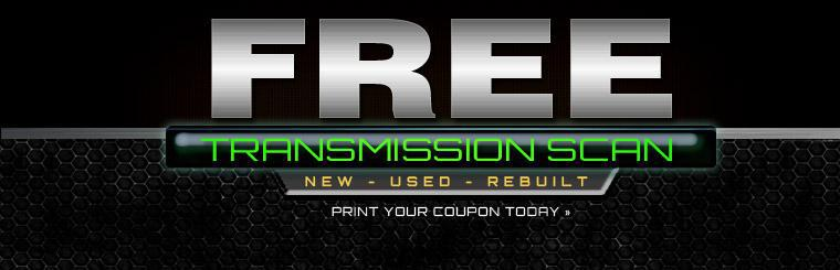 Click here to print a coupon for a free transmission scan.