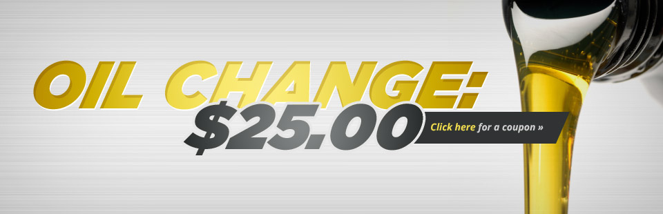 Get an oil change for just $25.00! Click here to print the coupon.