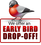 We offer an early bird drop-off.