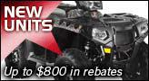 New Units - Up to $800 in rebates.