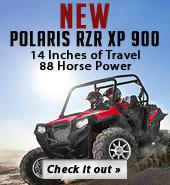 New Polaris RZR XP 900. 14 Inches of Travel. 88 Horse Power.  Check it out.