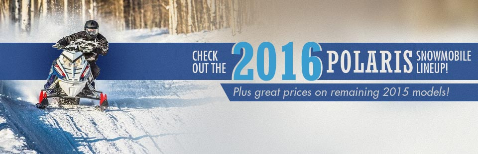 Check out the 2016 Polaris snowmobile lineup!