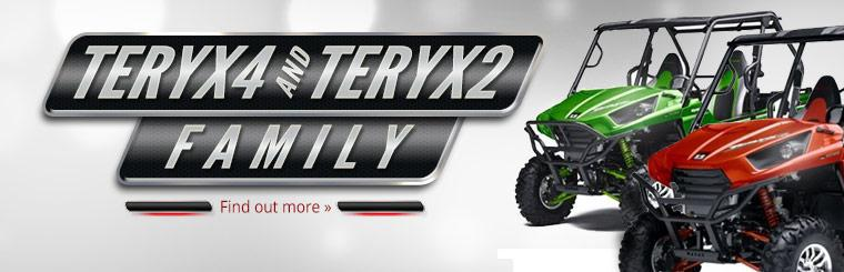 Click here to find out more about the Kawasaki Teryx4 and Teryx2 family.