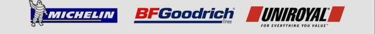 We carry products form Michelin®, BFGoodrich®, and Uniroyal®.