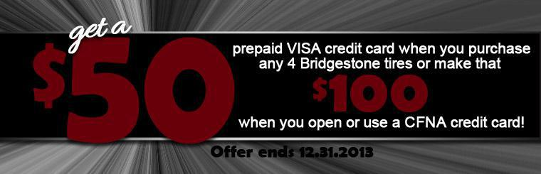 Holiday Bridgestone Promotion