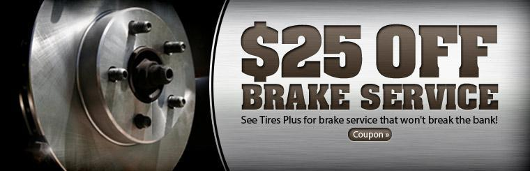 Click here to get $25 off brake service with this coupon.