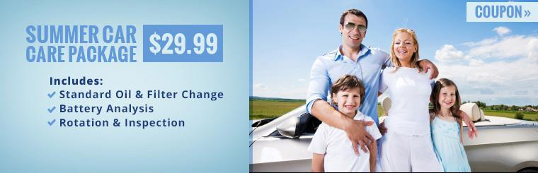 $29.99 Summer Car Care Package: Click here to print the coupon.