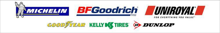We carry products from Michelin®, BFGoodrich®, Uniroyal® Goodyear, Kelly Tires, and Dunlop.