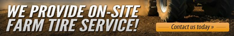 We provide on-site farm tire service!