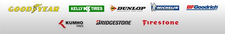 We proudly carry products from Goodyear, Kelly, Dunlop, Michelin®, BFGoodrich®, Kumho, Bridgestone, and Firestone.