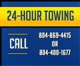 24-hour towing: Call (804) 869-4415 or (804) 400-1677