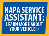 Napa Service Assistant: Learn more about your vehicle!