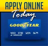 Apply online today: Goodyear credit card.