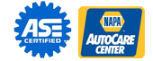 We are a NAPA Auto Care Center, and our mechanics are ASE certified.