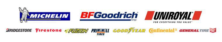 We carry products from Michelin®, BFGoodrich®, Uniroyal®, Bridgestone, Firestone, Fuzion, Primewell, Goodyear, Continental, and General.