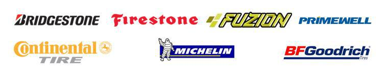 We carry products from Bridgestone, Firestone, Fuzion, Primewell, Continental, Michelin®, and BFGoodrich®.