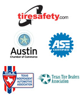 We are affiliated with TireSafety.com, the Austin Chamber of Commerce, TIAA, and TTDA. Our technicians are ASE certified.